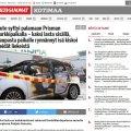 Soome kaubanduskeskuse parklas süttis auto kahe lapsega – isa tiris nad viimasel hetkel leekidest välja