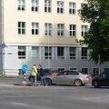VIDEO: Tallinnas liiklusreguleerija käsklusi eiranud BMW kaasreisija ähvardas agressiivselt reguleerijat