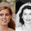 ГАЛЕРЕЯ | Внучка Елизаветы II вышла замуж в старом платье и тиаре бабушки. Смотрите фото с разницей в 70 лет!