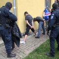 Kaader videost, mis tehti möödunud nädalal Põhja-Tallinnas Niidi 25 asuvas hooldekodus toimunud politseioperatsiooni ajal.