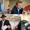 Erakondade esimehed hääletamas