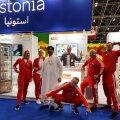 Balsnack Araabia Ühendemiraatides toiduainete messil aktiivset müügitööd tegemas.