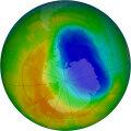 NASA сообщило об уменьшении озоновой дыры до размеров 1988 года