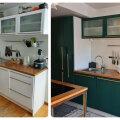 ENNE JA PÄRAST | Vana köögimööbel sai uhke rohelise kuue