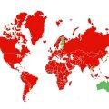 КАРТА | С 19 октября въезд в Эстонию без ограничений разрешен только из 3 стран Европы