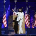 FOTOD | USA esimese naissoost asepresidendi Kamala Harrise valge pükskostüüm muutis märkimisväärselt selle ajaloolist tähendust
