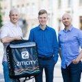Ziticity asutajad Laimonas Noreika (vasakult), Karolis Januškas ja Vytautas Noreika lubavad, et firma investeerib kahe aasta jooksul Eestisse viis miljonit eurot.