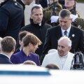 Paavst Franciscus septembris 2018 Tallinnas koos president Kersti Kaljulaidiga.