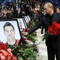 Venemaa president Vladimir Putin Jaroslavi Lokomotivi mängijate mälestamiseks korraldatud üritusel.