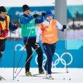 President Kersti Kaljulaid Pyeongchangi olümpia suusaradadel.