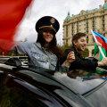 Азербайджанцы празднуют окончание войны в Нагорном Карабахе