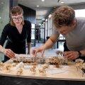 """EKA tudengid Ra Martin Puhkan ja Kertu Johanna Jõeste otsustasid eemaldada majalt kõik liigsed osad. """"Võtsime selle keskse trepikoja ja venitasime kogu fassaadi pikkuses välja, andes majale pika selgroo,"""" selgitab Puhkan."""