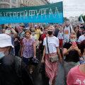 FOTOD | Habarovskis tulid tuhanded inimesed vihma trotsides taas keskvalitsuse vastu meelt avaldama