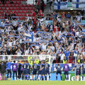 Soome koondis tänamas oma fänne pärast 1:0 võitu Kopenhaagenis Taani üle.