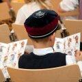 Tallinna Inglise Kolledžis kooliteed alustav õpilane.