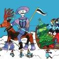 Eesti Moskva saatkonna tänavuse jõulukaardi autor on 12-aastane Daša.