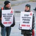 AIDS-i ravi nõudvad protestijad sotsiaalministeeriumi ees