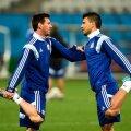 Vanad sõbrad koondisekaaslased Lionel Messi (vaskul) ja Sergio Agüero lähevad vastamisi.