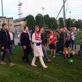 Kersti Kaljulaid jalgpallivõistlustel, Narva