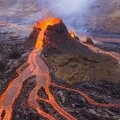 ВИДЕО   Страшно красиво: извержение вулкана в Исландии сняли с беспилотника