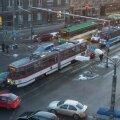 FOTOD: Tallinnas häirib BMW ja trammi avarii liiklust
