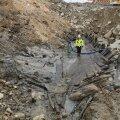 Reidi tee kõrvalt leitud 18. sajandi laevapõhi kaeti puhverkihiga ning see jäi uue promenaadi alla alles. (Foto: Ragnar Nurk / Imeline Ajalugu)