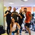 Trennimaratoni korraldajad koos intervall-poksi treeningu läbiviijatega