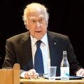 Peter W. Higgs peab oma Nobeli-kõnet.