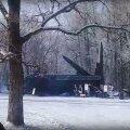 VIDEO | Narva jõe taga tähistatakse sõjatehnika väljanäitusega Punaarmee 100. aastapäeva