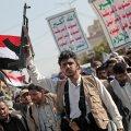 Houthi mässuliste toetajad tähistasid pealinnas Sana'as reedel Saudi Araabia sõjalise sekkumise kuuendat aastapäeva.
