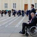 Tšehhi riigipea Miloš Zeman selle aasta mais pealinnas Prahas koroonaohvrite mälestusüritusel.