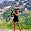 Fotopeatus 35 km pikkusel Col du Galibier' tõusul (2095 tõusumeetrit, keskmine nurk 5,5%).