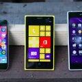 Kolm telefoni: 8 megapiksline iPhone 5s, 41 megapiksline Nokia Lumia 1020, 20 megapiksline Sony Xperia Z1