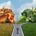 Valik on sinu: lähed vasakule, riskid vere kõrge kolesteroolitaseme ja südameinfarktiga; võtad suuna paremale, teed tervisele teene.