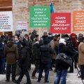 ФОТО | Сторонники традиционных семейных ценностей устроили пикет у здания КаПо
