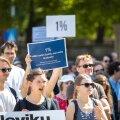 Akadeemiliste töötajate hoiatusstreik juuni algul Toompea lossi ees
