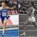 KAKS TILKA: Maicel Uibo, Doha MMi hõbemedal 2019 ja Rein Aun, hõbemedal Tokyost 1964. aastal.