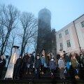 БЛОГ, ФОТО И ВИДЕО | Истребители с грохотом пролетели над Таллинном, но их не было видно. Так страна День независимости еще не встречала