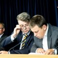 Министр иностранных дел Урмас Рейнсалу и премьер Юри Ратас