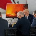 Põlevat Californiat külastanud Trump kliimamuutusest: hakkab jahedamaks minema