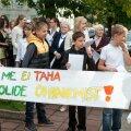 Ученики эстонской гимназии протестуют против слияния школ (2013 г.)