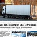 Norra politsei saadab 23 korda liikluseeskirja rikkunud Eesti veokijuhi riigist välja