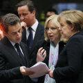 ESITAS NÕUDMISI: Slovakkia peaminister nõudis Prantsuse presidendilt Nicolas Sarkozylt ja Saksamaa kantslerilt Angela Merkelilt Kreekale võlgu andmise vastu automaatseid sanktsioone rikkumiste eest. Tagapool Briti peaminister David Cameron. FOTO: REUTERS/
