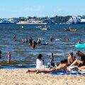 Rahvas Pirita rannas 18.07.2020
