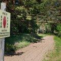 Perdaku:Eesti-Vene piirileping muudab ajutise kontrolljoone riigipiiriks.Pildil:Riigipiir Perdaku külas.