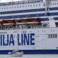 Tallinki ristluslaeval ei õnnestunud kõva tuule tõttu Gotlandil silduda