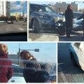 FOTOD: Liiklushuligaan Valentina sattus nädalavahetusel uude avariisse, samal päeval lõhuti proua auto aknaklaas