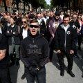 Rootsi neonatsliku organisatsiooni Nordic Resistance Movement meeleavaldus Stockholmis.
