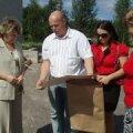 Pildil Misso valla esindajad Venemaal sõprusvallas Lauras