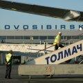 Novosibirskis tegi hädamaandumise tõrkuva mootoriga reisilennuk